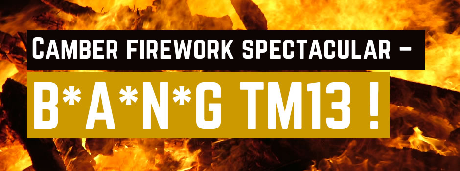 BANG TM13 music and fireworks – 8th November