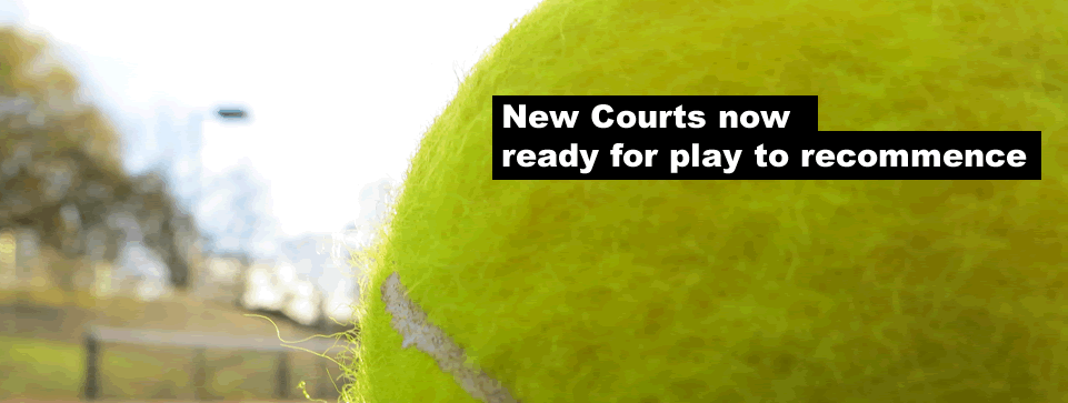 New courts now ready for play to recommence