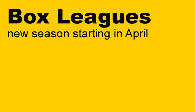 Box Leagues – new season starting in April