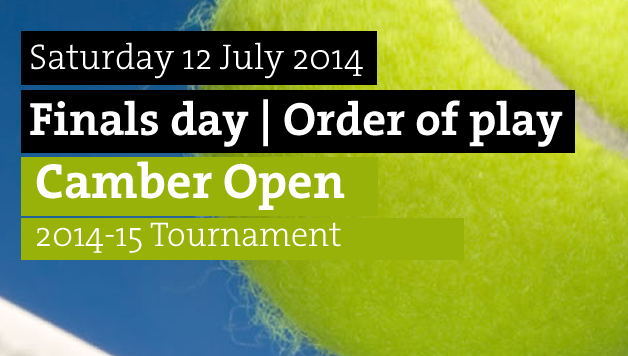 Finals day, Order of play