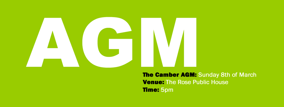 The Camber AGM will be on Sunday 8th of March at 5pm