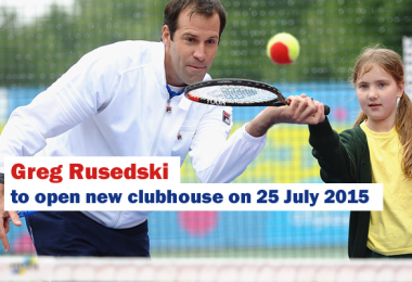 Greg Rusedski to open new clubhouse on 25 July 2015